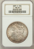 Morgan Dollars: , 1889-S $1 MS64 NGC. NGC Census: (1275/283). PCGS Population(2118/645). Mintage: 700,000. Numismedia Wsl. Price for problem...