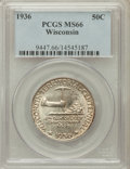 Commemorative Silver: , 1936 50C Wisconsin MS66 PCGS. PCGS Population (1527/451). NGCCensus: (1234/378). Mintage: 25,015. Numismedia Wsl. Price fo...