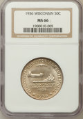 Commemorative Silver: , 1936 50C Wisconsin MS66 NGC. NGC Census: (1234/378). PCGSPopulation (1527/451). Mintage: 25,015. Numismedia Wsl. Pricefor...