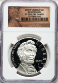 Modern Issues, 2009-P $1 Lincoln Bicentennial PR70 Ultra Cameo NGC. NGC Census:(6739). PCGS Population (2387)....