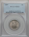 Liberty Nickels: , 1897 5C MS63 PCGS. PCGS Population (142/295). NGC Census: (97/222).Mintage: 20,428,736. Numismedia Wsl. Price for problem ...