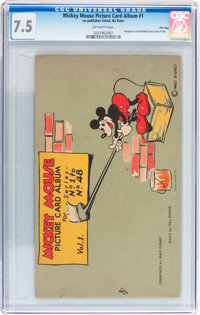 Mickey Mouse Picture Card Album #1 File Copy (no publisher listed, no date) CGC VF- 7.5 Off-white pages
