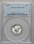 Mercury Dimes: , 1937 10C MS67 Full Bands PCGS. PCGS Population (744/39). NGCCensus: (501/15). Mintage: 56,865,756. Numismedia Wsl. Price f...