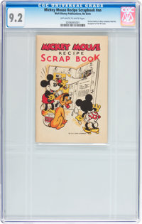 Mickey Mouse Recipe Scrap Book #nn (Walt Disney Publications, c. 1934) CGC NM- 9.2 Off-white to white pages