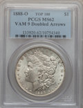 Morgan Dollars, 1888-O $1 Doubled Arrows MS62 PCGS. Vam 9, Top-100. PCGS Population(22/131). NGC Census: (0/0)....