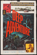 "Movie Posters:Adventure, Deep Adventure (Warner Brothers, 1957). One Sheet (27"" X 41"").Adventure.. ..."