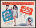 "Movie Posters:Comedy, Getting Gertie's Garter / Up In Mabel's Room Combo(Schlaifer-Encore, R-1956). Half Sheets (2) (22"" X 28""). Comedy..... (Total: 2 Items)"