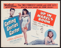 "Getting Gertie's Garter / Up In Mabel's Room Combo (Schlaifer-Encore, R-1956). Half Sheets (2) (22"" X 28""). Co..."