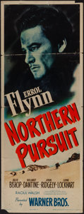 "Movie Posters:Adventure, Northern Pursuit (Warner Brothers, 1943). Insert (14"" X 36"").Adventure.. ..."