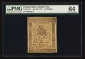 Colonial Notes:Pennsylvania, Pennsylvania July 20, 1775 10s PMG Choice Uncirculated 64.. ...