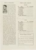 Basketball Collectibles:Programs, 1955 Maurice Stokes Signed Wigwam Program. ...