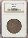 Bust Half Dollars: , 1830 50C Small 0 AU50 NGC. NGC Census: (104/1193). PCGS Population(142/897). Mintage: 4,764,800. Numismedia Wsl. Price for...