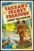 "Movie Posters:Adventure, Tarzan's Secret Treasure (MGM, 1941). One Sheet (27"" X 41"") StyleC. Adventure.. ..."