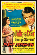 "Movie Posters:Drama, Penny Serenade (Columbia, 1941). One Sheet (27"" X 41"") Style A.Drama.. ..."