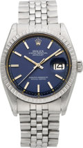Timepieces:Wristwatch, Rolex Ref. 1603 Gent's Steel Oyster Perpetual Datejust, circa 1978....
