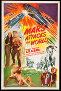 """Movie Posters:Science Fiction, Mars Attacks the World (Filmcraft, R-1950s). One Sheet (27"""" X 41"""").Science Fiction.. ..."""