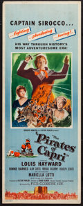 "Movie Posters:Adventure, The Pirates of Capri (Film Classics, Inc., 1949). Insert (14"" X36""). Adventure.. ..."