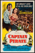 "Movie Posters:Adventure, Captain Pirate (Columbia, 1952). One Sheet (27"" X 41""). Adventure....."