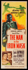 "Movie Posters:Adventure, The Man in the Iron Mask (PRC, R-1947). Insert (14"" X 36"").Adventure.. ..."
