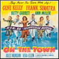"""Movie Posters:Musical, On the Town (MGM, 1949). Six Sheet (78.5"""" X 79""""). Musical.. ..."""