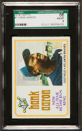 Baseball Cards:Singles (1970-Now), 1974 Topps Hank Aaron Home Run King #1 SGC 88 NM/MT 8. ...