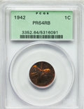 Proof Lincoln Cents, 1942 1C PR64 Red and Brown PCGS. PCGS Population (169/42). NGCCensus: (174/82). Mintage: 32,600. Numismedia Wsl. Price for...