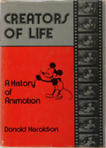 Books:Art & Architecture, [Animation]. Donald Heraldson. Creators of Life: A History of Animation. Drake, 1975. First edition, first printing....