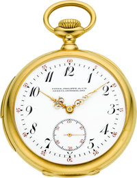 Patek Philippe & Cie Fine & Rare Minute Repeating Gold Pocket Watch, circa 1907