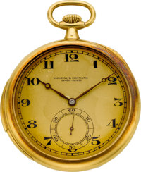 Vacheron & Constantin Gold Minute Repeating Pocket Watch, circa 1918