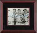 Baseball Collectibles:Photos, Stan Musial, Mickey Mantle and Joe DiMaggio Multi Signed Photograph,...