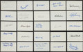 Baseball Collectibles:Others, Baseball Stars Signed Index Cards Lot of 300+....