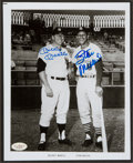 Baseball Collectibles:Photos, Mickey Mantle and Stan Musial Multi Signed Photograph....