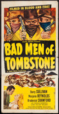 "Movie Posters:Western, Bad Men of Tombstone & Others Lot (Allied Artists, 1949). Three Sheets (2) (41"" X 79"" & 41"" X 80"") & One Sheet (27"" X 41""). ... (Total: 3 Items)"