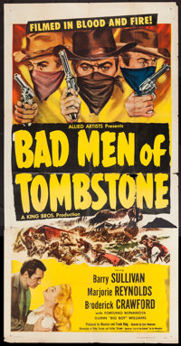 "Bad Men of Tombstone & Others Lot (Allied Artists, 1949). Three Sheets (2) (41"" X 79"" & 41"" X 80&..."