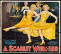"""Movie Posters:Mystery, A Scarlet Week-End (Irving Pictures, 1932). Six Sheet (70"""" X 80""""). Mystery.. ..."""
