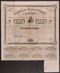 Confederate Notes:Group Lots, Ball 252 Cr. UNL Bond $1000 1863 Very Fine.. ...
