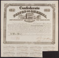 Confederate Notes:Group Lots, Ball 260 Cr. 128 $100 Confederate Bond Extremly Fine.. ...