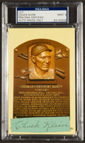 Baseball Collectibles:Others, Chuck Klein Signed Cut Signature Display PSA Mint 9....