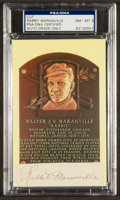 Baseball Collectibles:Others, Rabbit Maranville Signed Cut Signature Display NM-MT 8....