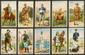 "Non-Sport Cards:Sets, 1909-13 T81 Recruit ""Military Series"" Partial Set (33/50) PlusExtras. ..."