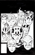 Original Comic Art:Covers, Mark Bagley and Larry Mahlstedt The New Warriors #25 CoverOriginal Art (Marvel, 1992)....