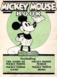 Mickey Mouse Book First Printing Theater/Advertising Version (Bibo & Lang, 1930) Condition: VG/FN