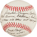 Autographs:Baseballs, Gene Conley Single Signed Baseball With Lengthy Inscription....