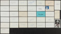 Autographs:Index Cards, Baseball Greats Signed Index Cards Lot Of 34....