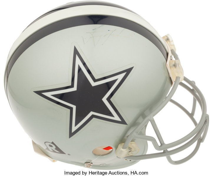 b3b4e090f Troy Aikman Signed Dallas Cowboys Full Size Authentic Helmet ...