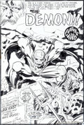 Original Comic Art:Splash Pages, Jack Kirby and Mike Royer The Demon #2 Splash Page 6Original Art (DC, 1972)....