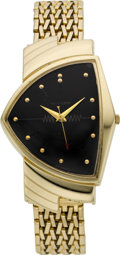 Timepieces:Wristwatch, Hamilton 14k Gold Ventura Electric, circa 1957. ...