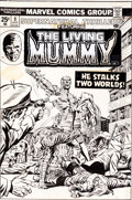 Original Comic Art:Covers, Larry Lieber and Tom Palmer Supernatural Thrillers #8 LivingMummy Cover Original Art (Marvel, 1974)....