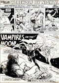 Original Comic Art:Panel Pages, Don Perlin and Vince Colletta Werewolf By Night #19 Title Page 1 Original Art (Marvel, 1974)....