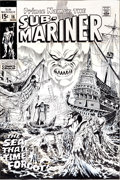 Original Comic Art:Covers, Marie Severin and Frank Giacoia Sub-Mariner #16 CoverOriginal Art (Marvel, 1969).... (Total: 2 Items)